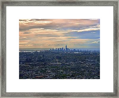 Over East New York Framed Print