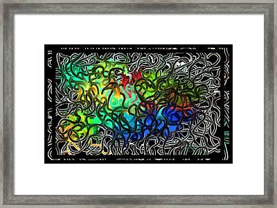Over Easy - Crazy Brain Series - Two Framed Print by Steven Lebron Langston