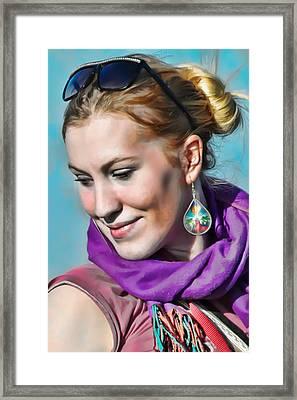 Over Her Shoulder Framed Print