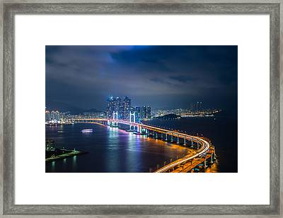 Over Looking Busan Framed Print by Keith Homan