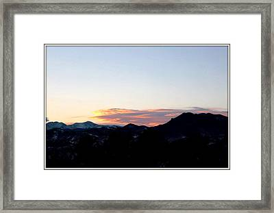 Over Lookout Mountain Golden Colorado Framed Print by Misty Herrick