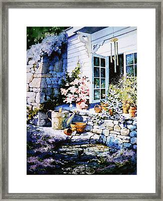 Over Sleepy Garden Walls Framed Print by Hanne Lore Koehler