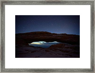 Framed Print featuring the photograph Over The Arch by David Andersen