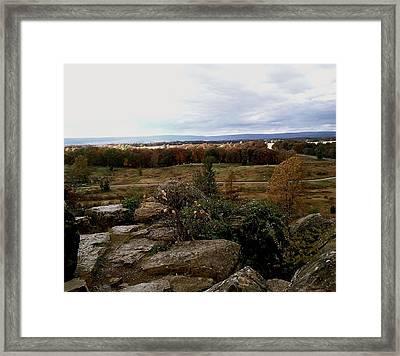 Over The Battle Field Of Gettysburg Framed Print
