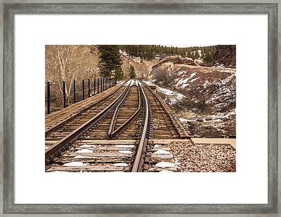 Over The Bridge Around The Bend Framed Print by Sue Smith