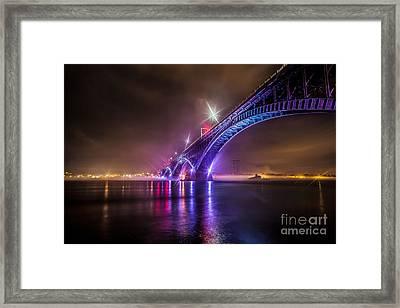 Over The Bridge Framed Print