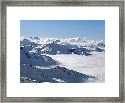Over The Clouds Framed Print