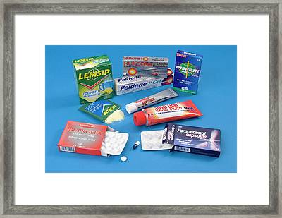 Over-the-counter Analgesics Framed Print by Trevor Clifford Photography