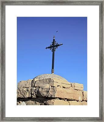 Over The Cross Framed Print