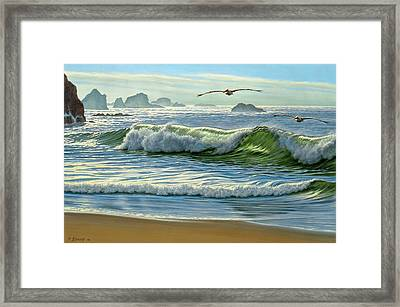 Over The Curl Framed Print by Paul Krapf