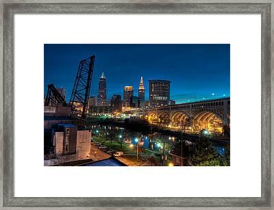 Over The Cuyahoga Before Sunrise Framed Print