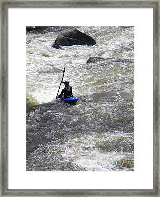 Over The Drop Framed Print