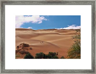 Over The Dunes Framed Print