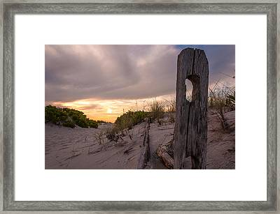 Over The Dunes Framed Print by Kristopher Schoenleber