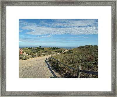 Over The Dunes To The Beach Framed Print