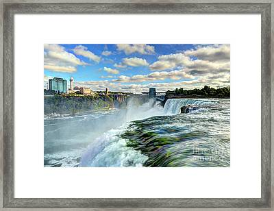 Over The Edge 1 Framed Print by Mel Steinhauer