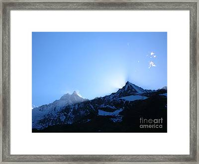 Over The Edge  Framed Print by Micheline Heroux