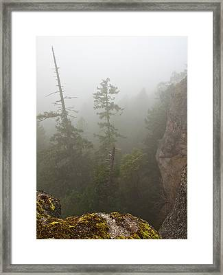 Over The Edge Framed Print by Randy Hall