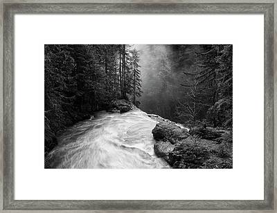 Over The Falls Framed Print