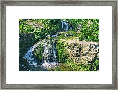 Old Mill Waterfall Framed Print by Georgia Fowler
