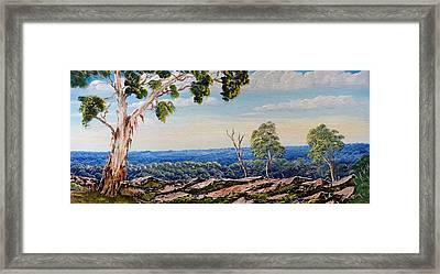 Over The Hill Framed Print by David Belcastro