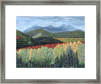 Framed Print featuring the painting Over The Hills And Through The Woods by Suzanne Theis