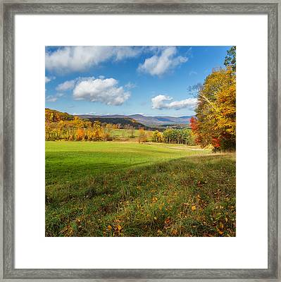 Over The Hills Square Framed Print by Bill Wakeley