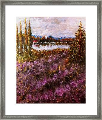 Over The Lavender Field.. Framed Print
