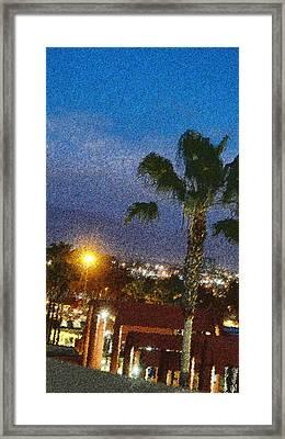 over the Luckman @ My CSU L.A. Framed Print