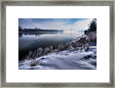 Over The Missouri Mists In March Framed Print