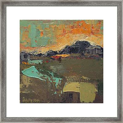 Over The Mountain Framed Print by Becky Kim