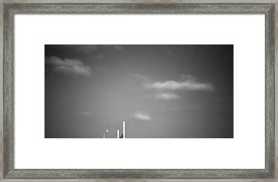 Over The Net Framed Print by Peter Tellone