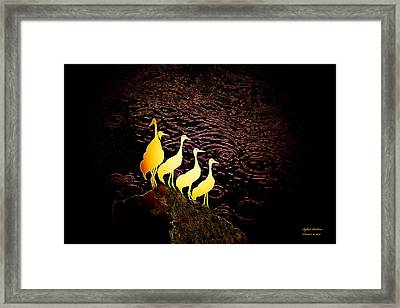Over The Ocean Framed Print by Itzhak Richter