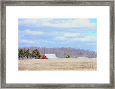 Over The Rise - Kentucky Framed Print by Paulette B Wright