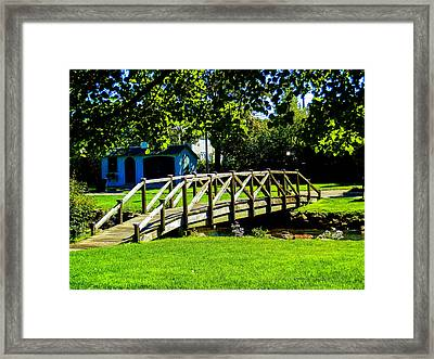 Over The River Framed Print by Heather Sylvia