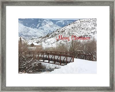 Over The River Framed Print by Kim Hojnacki