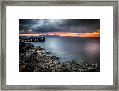 Over The Sea Framed Print by John Farnan