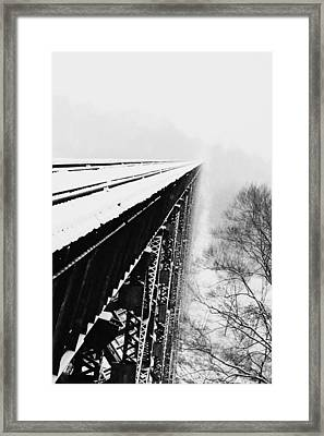 Over The Side Framed Print by Cheryl Helms