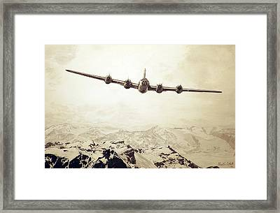 Over The Top - Boeing B-29 Superfortress Framed Print by Martin Hall