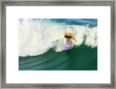 Over The Top Framed Print by Laura Fasulo