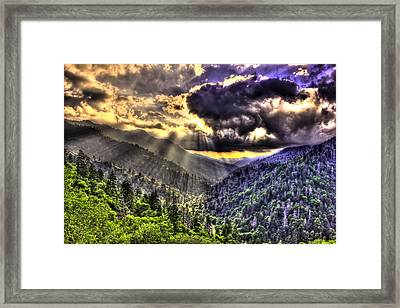Over The Top The Great Smoky Mountains Framed Print by Reid Callaway