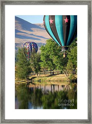 Over The Trees And Into The River Framed Print by Carol Groenen