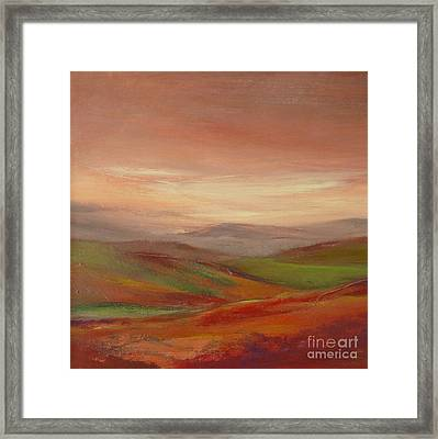 Over The Valley Framed Print
