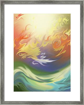 Over The Water Framed Print by Luis Garcia