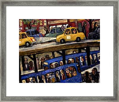 Over Under New York City Nocturne Framed Print