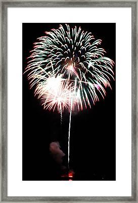 4th Of July Fireworks 4 Framed Print by Howard Tenke