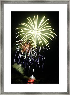 4th Of July Fireworks 5 Framed Print by Howard Tenke