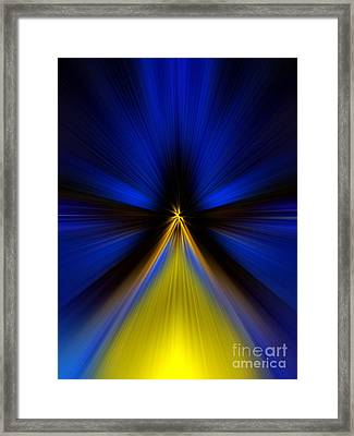 Over Yellow Framed Print by Trena Mara