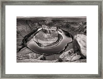 Framed Print featuring the photograph Overcast At Horseshoe Bend by Brad Brizek