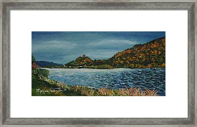 Overcast At Lake Winona Framed Print